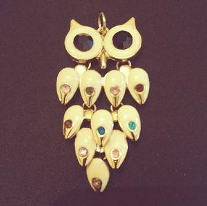 Jewelry - Gemstone Owl Necklace Ornament